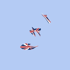 The Union Jack isn't the most popular flag to an Irishman. I always associate it with aviation though. Here's some abstract flying machines. I think.